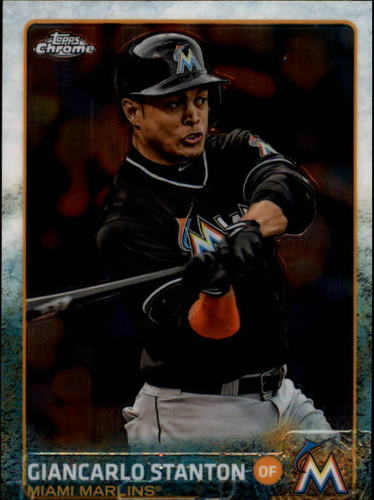 Photo of 2015 Topps Chrome #65 Giancarlo Stanton