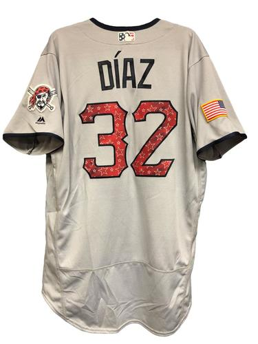 Photo of Elias Diaz Game-Used Stars & Stripes Jersey