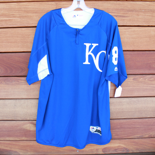 Photo of Team-Issued Batting Practice Jersey: #8 (Size -XL)