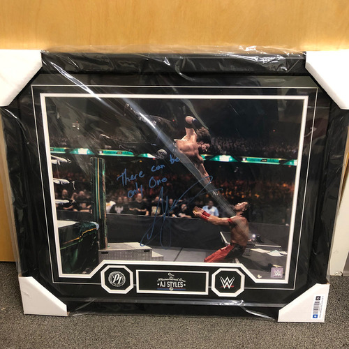 Photo of AJ Styles Autographed 20x24 Framed Photo Plaque