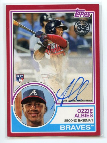 Photo of 2018 Topps '83 Topps Autographs Red #83AOA Ozzie Albies 24/25