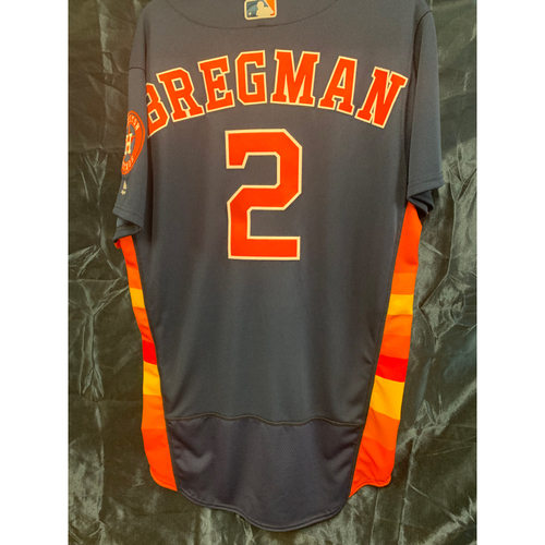 Photo of 2018 Alex Bregman Team-Issued Navy Alt Jersey (Size 42)