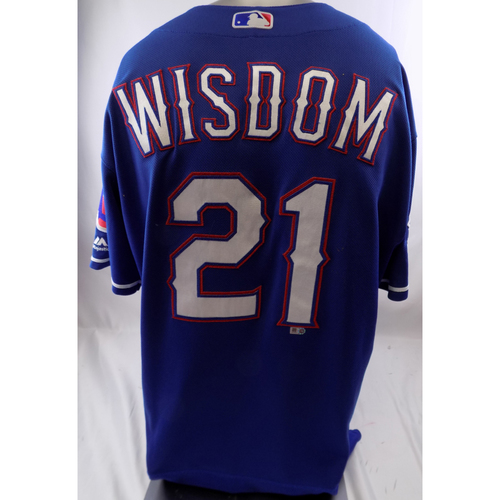 Photo of Blue Team-Issued Jersey - Patrick Wisdom - 10/8/19