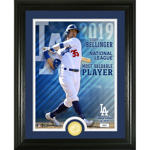Photo of Cody Bellinger 2019 NL MVP Bronze Coin Photo Mint