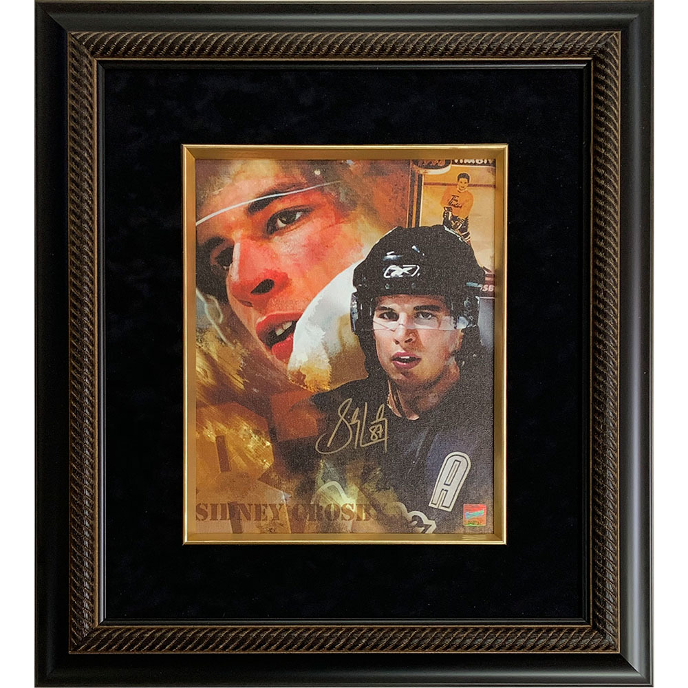 Sidney Crosby Autographed Pittsburgh Penguins Framed 11X14 Canvas Collage