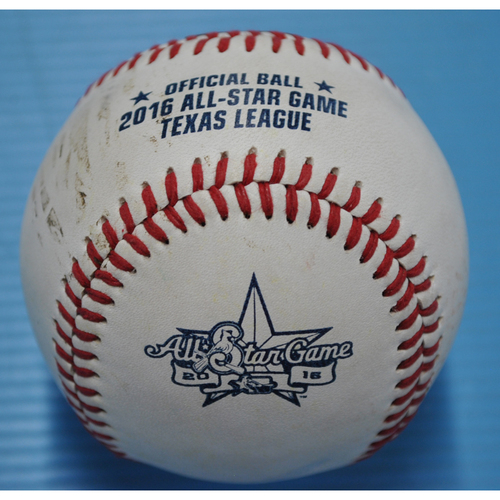 Photo of Game-Used Baseball - 2016 Texas League All-Star Game Home Run Derby - Luke Voit - Round 1 - Home Run