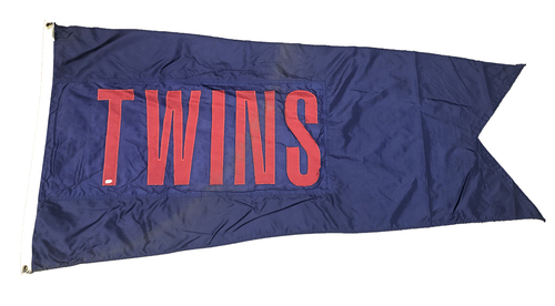 Photo of Wrigley Field Collection -- Rooftop Flag -- Twins