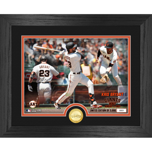 Photo of Kris Bryant Giants Debut Game Bronze Coin Photo Mint LE