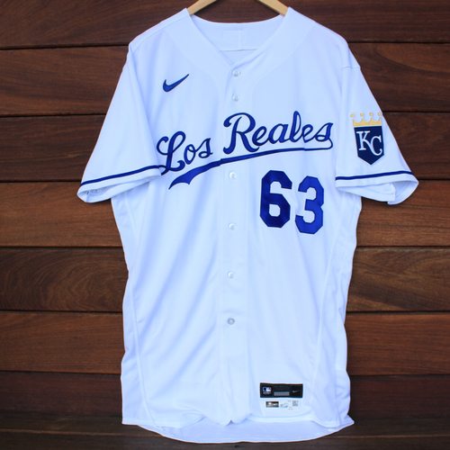 Photo of Game-Used Los Reales Jersey: Josh Staumont #63 (SEA@KC 9/17/21) - Size 42