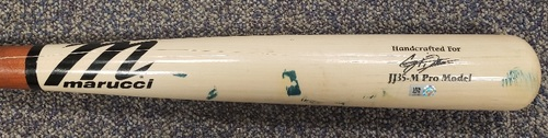 Photo of Authenticated Game Used Cracked Bat: Single by Corey Dickerson against Bailey Ober (Sep 24, 2021 vs MIN). Top 5.