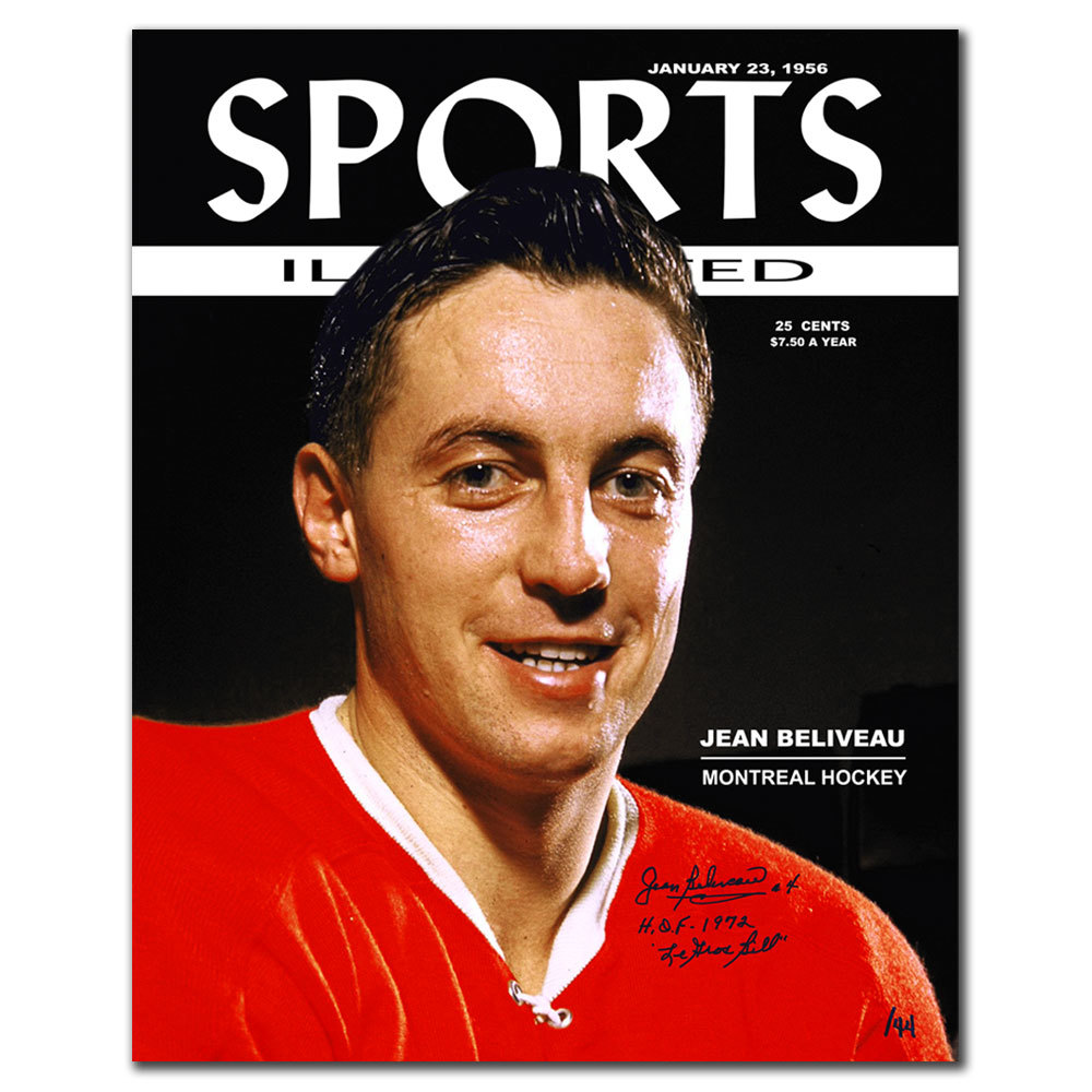 Jean Beliveau Sports Illustrated Montreal Canadiens Limited Edition Autographed 16x20