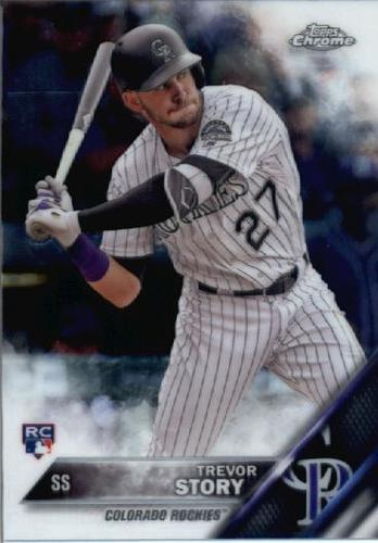 Photo of 2016 Topps Chrome #45 Trevor Story Rookie Card