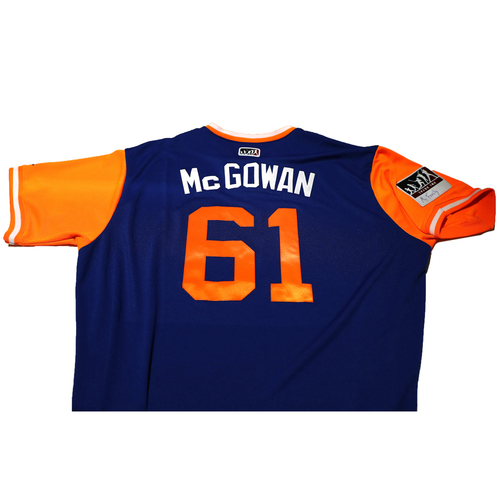 "Photo of Kevin ""McGowan"" McGowan New York Mets Game-Used Players Weekend Jersey"
