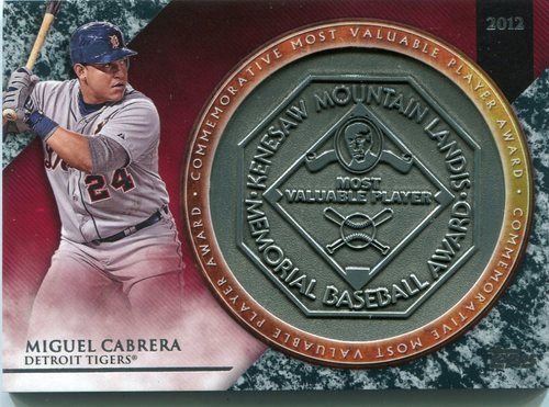 Photo of 2017 Topps Update MVP Award Relics #MVPRMC Miguel Cabrera