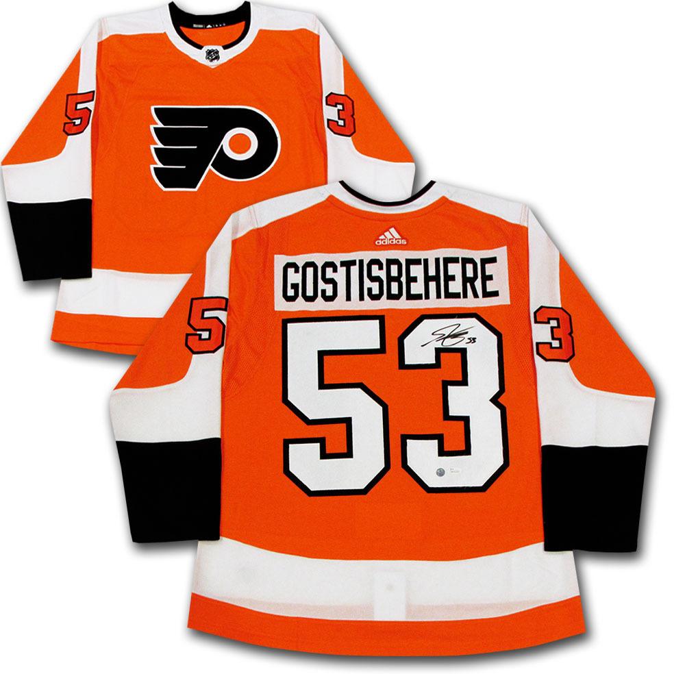 hot sales f77cb 26d43 Shayne Gostisbehere Autographed Philadelphia Flyers adidas ...