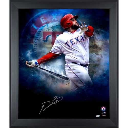 "Photo of Prince Fielder Texas Rangers Framed Autographed 20'' x 24"" Photo"