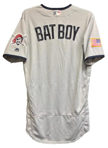 Photo of Bat Boy Team-Issued 2018 Stars and Stripes Jersey