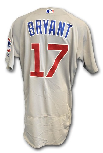 Photo of Kris Bryant Game-Used Jersey -- Cubs at White Sox -- 9/22/18; Also Worn Opening Day 2018 -- Cubs at Marlins -- 3/29/18 -- Bryant 1 Hit, 1 Walk, 2 Runs