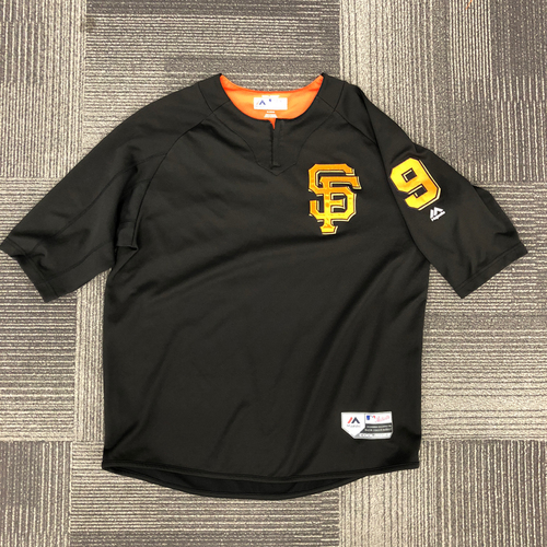 Photo of San Francisco Giants - Team Issued Batting Practice Jersey - #9 Brandon Belt - Size XL