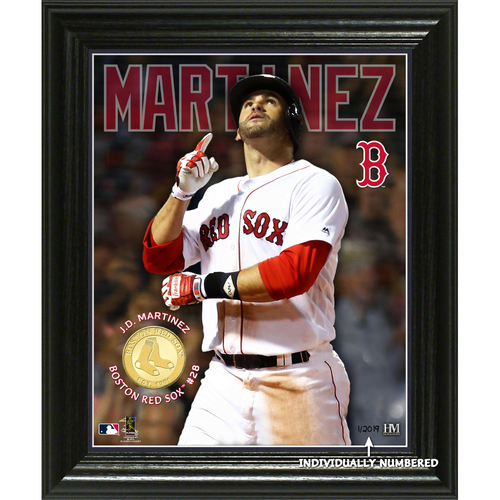 "Photo of Serial #1! JD Martinez ""Elite Series"" Bronze Coin Photo Mint"