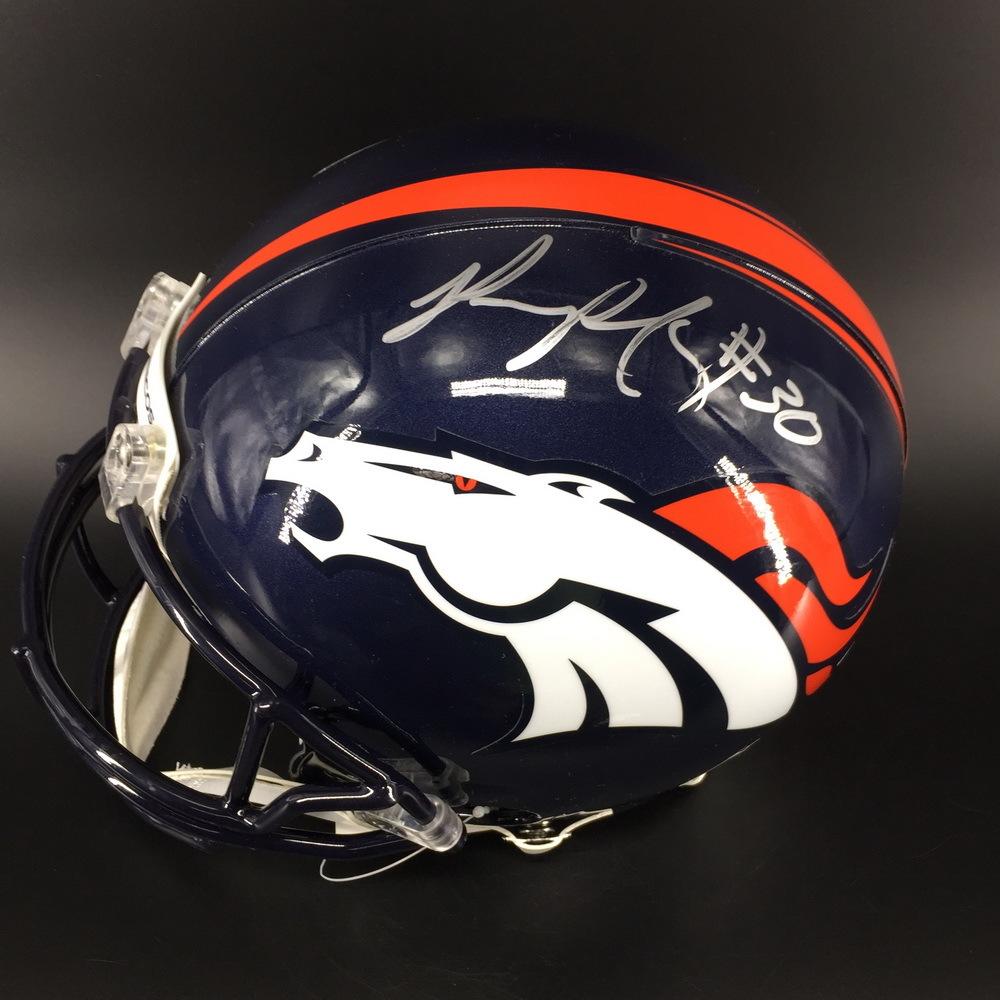 NFL - Broncos Phillip Lindsay Signed Proline Helmet