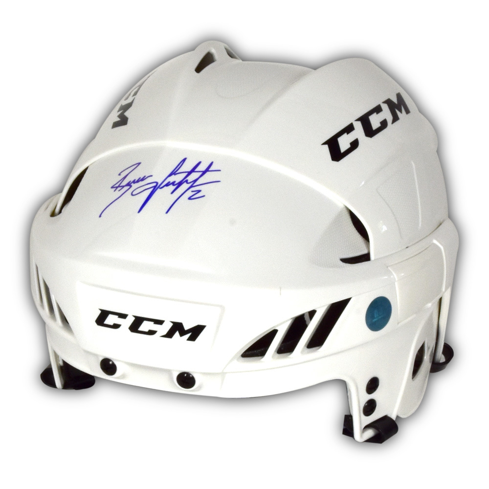 Brian Leetch Signed White CCM Hockey Helmet - New York Rangers