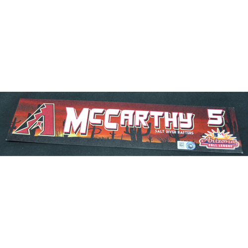 Photo of Arizona Fall League - Game-Used Locker Tag - Jake McCarthy (ARI), Jersey Number: 5