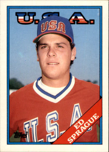 Photo of 1988 Topps Traded #113T Ed Sprague OLY XRC