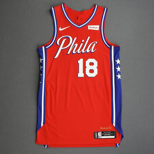 Image of Shake Milton - Philadelphia 76ers - Game-Worn Statement Edition Jersey - 2019-20 Season