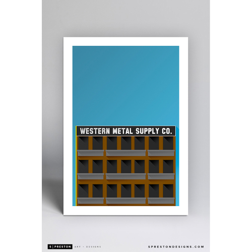 Photo of Petco Park - Minimalist Ballpark Art Print by S. Preston  - San Diego Padres