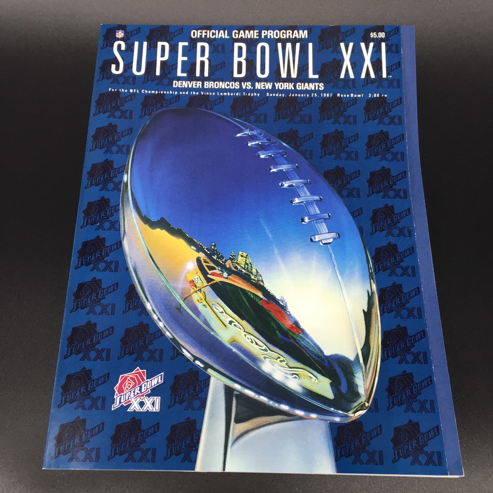 PROGRAM - SUPERBOWL XXI 1.25.87 GIANTS VS BRONCOS