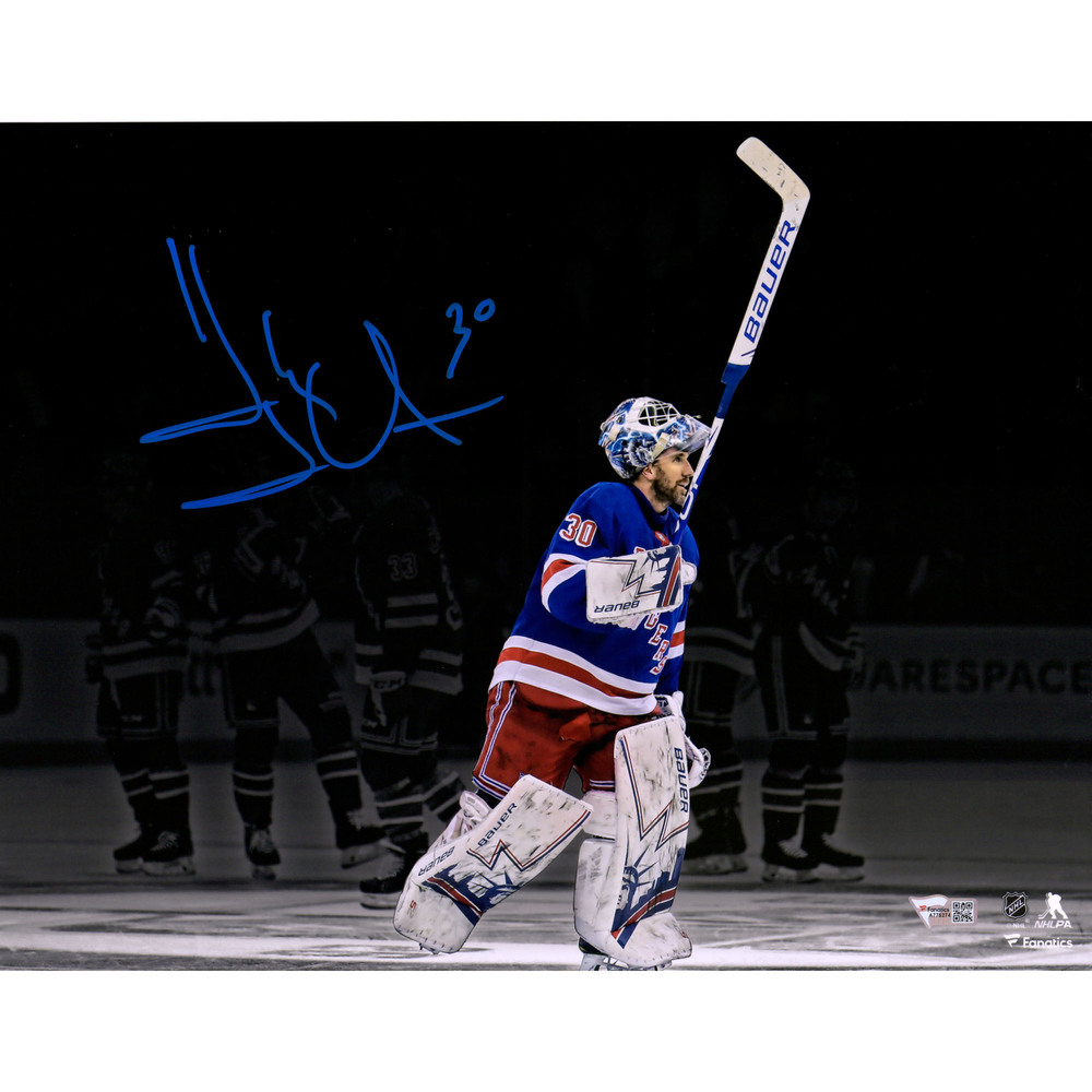 Henrik Lundqvist New York Rangers Autographed 11