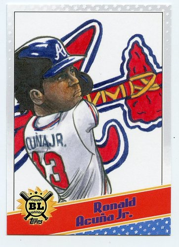 Photo of 2020 Topps Big League Star Caricature Reproductions #SCORA Ronald Acuna Jr.