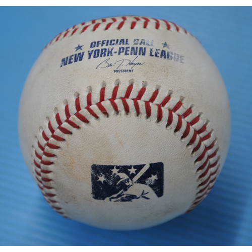 Photo of Game-Used Baseball - 2017 Arizona Fall League - Batter: Brendan McKay - 8th Inning - Foul Tip