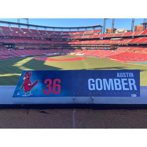 Photo of Cardinals Authentics: 2020 Game Used Austin Gomber Locker Tag
