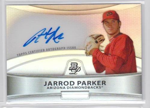 Photo of 2010 Bowman Platinum Prospect Autographs Refractors #JP Jarrod Parker