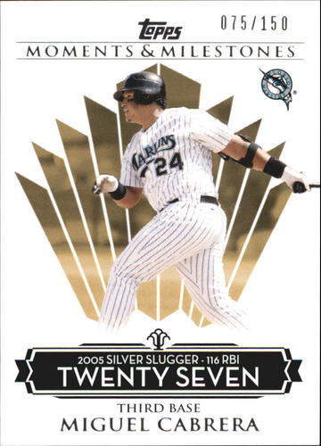 Photo of 2008 Topps Moments and Milestones #138-27 Miguel Cabrera