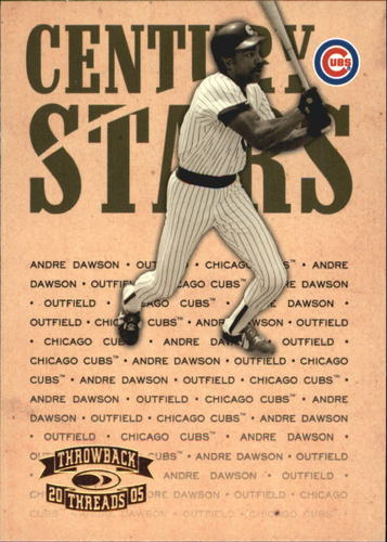 Photo of 2005 Throwback Threads Century Stars #37 Andre Dawson