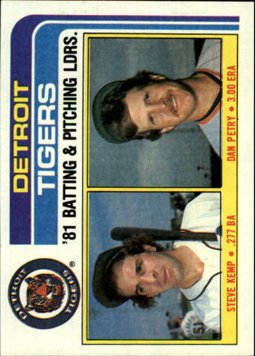 Photo of 1982 Topps #666 Steve Kemp/Dan Petry TL