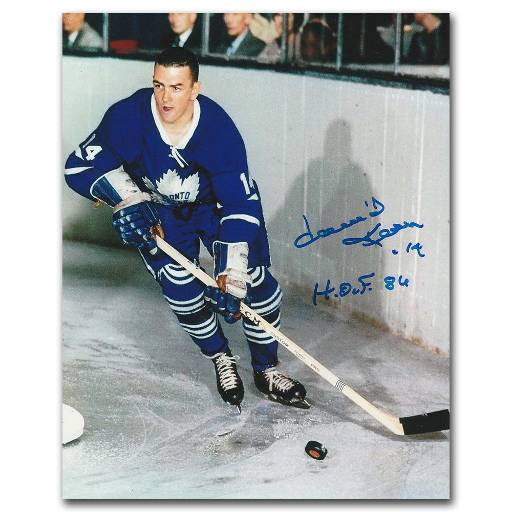 Dave Keon Autographed Toronto Maple Leafs 8X10 Photo w/HOF 84 Inscription