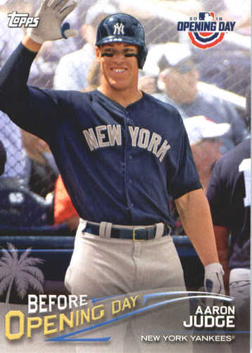 Photo of 2018 Topps Opening Day Before Opening Day #BODAJ Aaron Judge