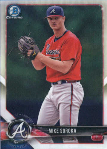 Photo of 2018 Bowman Chrome Prospects #BCP89 Mike Soroka