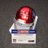 HOF - RAIDERS TIM BROWN SIGNED HOF LOGO BLAZE MINI HELMET