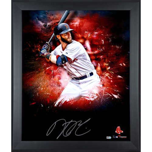 "Photo of Dustin Pedroia Boston Red Sox Framed Autographed 20"" x 24"" In Focus Photo - L. E. of #25"