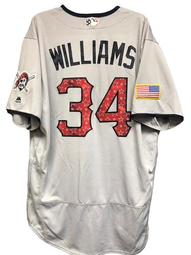 Photo of Trevor Williams Game-Used Stars & Stripes Jersey