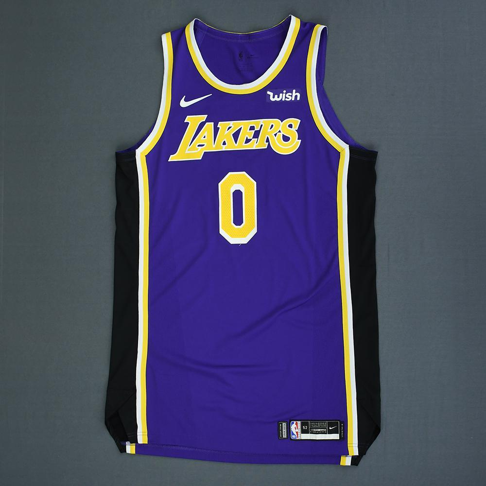 Kyle Kuzma - Los Angeles Lakers - Game-Worn Statement Edition Jersey - 2018- 63e6a2d8c