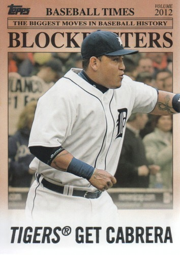Photo of 2012 Topps Update Blockbusters #BB8 Miguel Cabrera