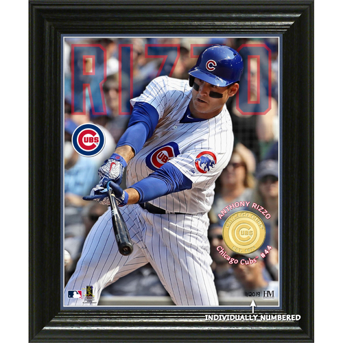 "Photo of Serial #1! Anthony Rizzo ""Elite Series"" Bronze Coin Photo Mint"