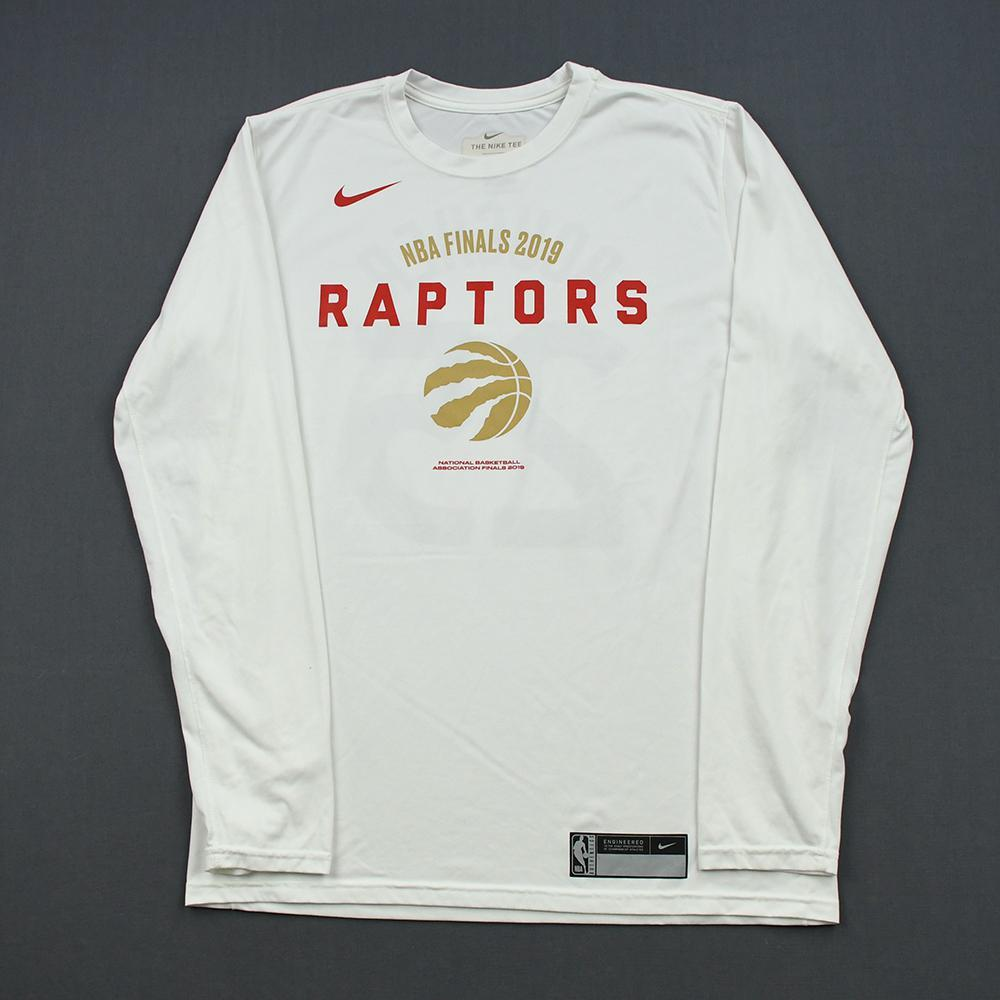 Chris Boucher - Toronto Raptors - 2019 NBA Finals - Game-Issued Long-Sleeved Shooting Shirt