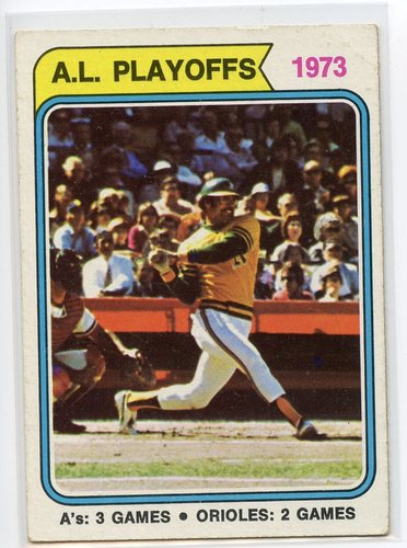 Photo of 1974 Topps #470 AL Playoffs/Reggie Jackson